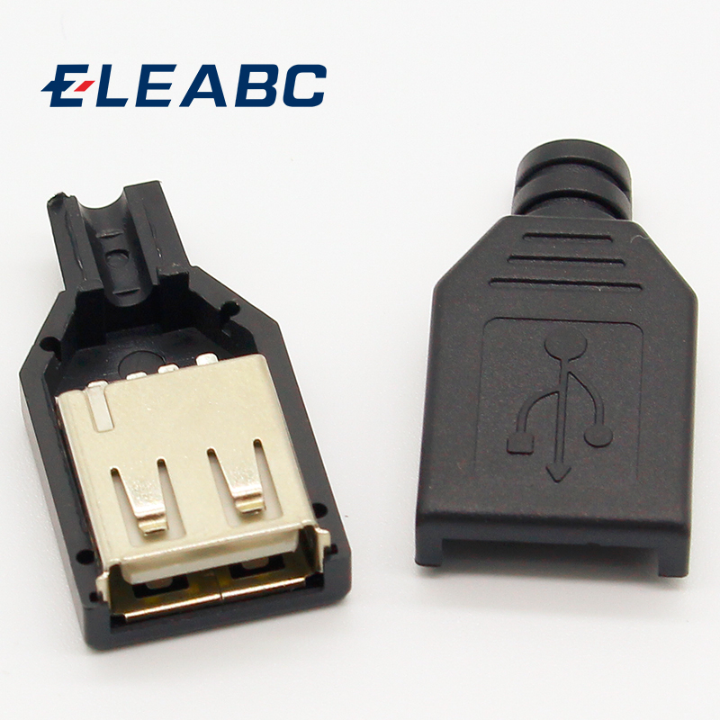 Permalink to New 10pcs Type A Female USB 4 Pin Plug Socket Connector With Black Plastic Cover
