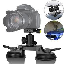 Heavy Duty Camera Double Suction Cup Holder Mount for Windscreen Vehicle Car Door Trunk Lid DSLR Camcorder DV Gopro Filming 007 rotary double side suction cup car mount holder white
