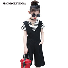 5be9306dc999 Girls Summer Jumpsuit 2018 Jumpsuit Kids Boot Cut Overalls For Girls Teen  Costumes For Big Girls 3 4 6 8 10 12 Years