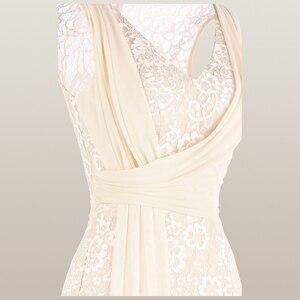 Image 3 - מלאך אופנת נשים של V צוואר תחרה שמלת ערב קפלים רצועת כלים בת ים המפלגה שמלת משמש 428 418
