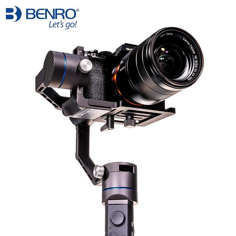 Stabilisateur 3 axes portable professionnel Benro R1 pour stabilisateur multifonction anti-secousse pour caméra et téléphone portable