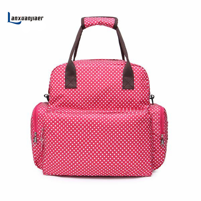Bag Baby Diaper Backpack Shoulders Mommy nappy  Bag Multifunctional large capacity Waterproof Changing pad Free Shipping