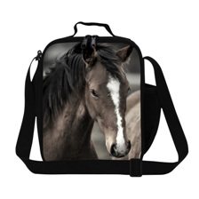 2014 Fashion Horses soft neoprene insulated lunch box bag thermal outdoor picnic bags tote handbag customizable Free shipping