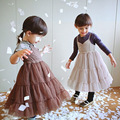 Princess Kids Girls Tutu Ruffles Halter Lace Dress Fall Spring Summer Holiday Candy Slim Party Dress