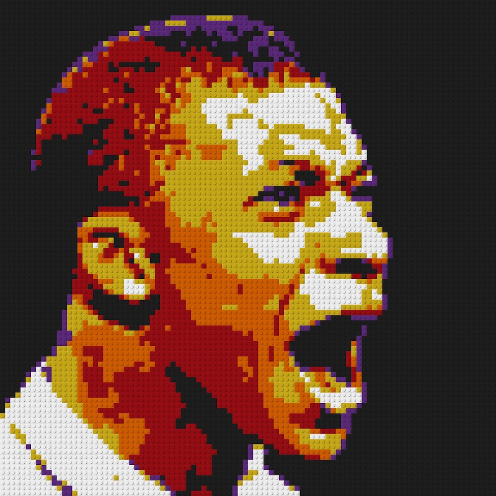 Us 14925 25 Offpixel Art Mosaic Painting Creative Diy Gift France Kylian Mbappe Portrait Portugal C Ronaldo Football Team Building Blocks Set In