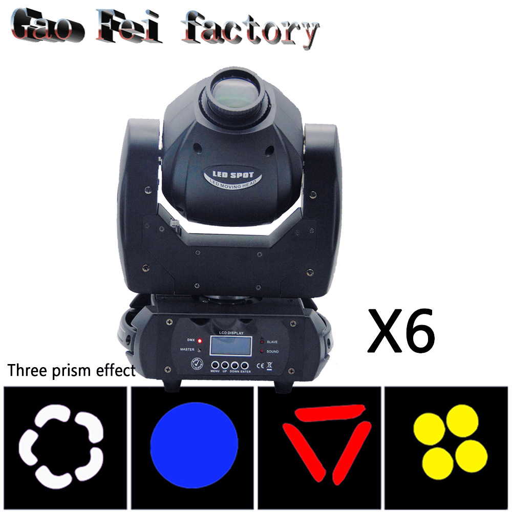 6pcs/lot 60W Moving Head Light 3 Face Prism DMX Controller LED Spot Light for Stage mini moving head6pcs/lot 60W Moving Head Light 3 Face Prism DMX Controller LED Spot Light for Stage mini moving head