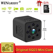 SQ23 Original Mini Camera WiFi Cam Full HD 1080P Sport DV Recorder 155 Night Vision Small Action Camera Camcorder DVR pk sq13 cheap WINGRIDY 1080P (Full-HD) CMOS SQ23 SQ13 MicroSD TF 2Mega CMOS sensor GC1024 F 2 5 f=2 33mm TF Card up to 32GB Built-in