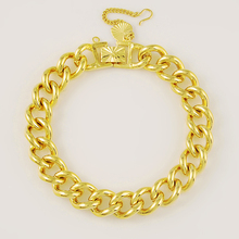 Fashion 24K Gold Plating Bracelets for Women Yellow Gold Color Link Chain Bracelet Bangles Jewelry pulseras cadeia Gift цена и фото
