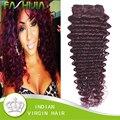 FASHIJIA Волосы Девственницы Индийские Глубоко Вьющиеся Волосы 99J Красный Бордовый мокко Волос Продукты Влажная И Волнистые Индийские Глубокая Волна 3 Пучки онлайн