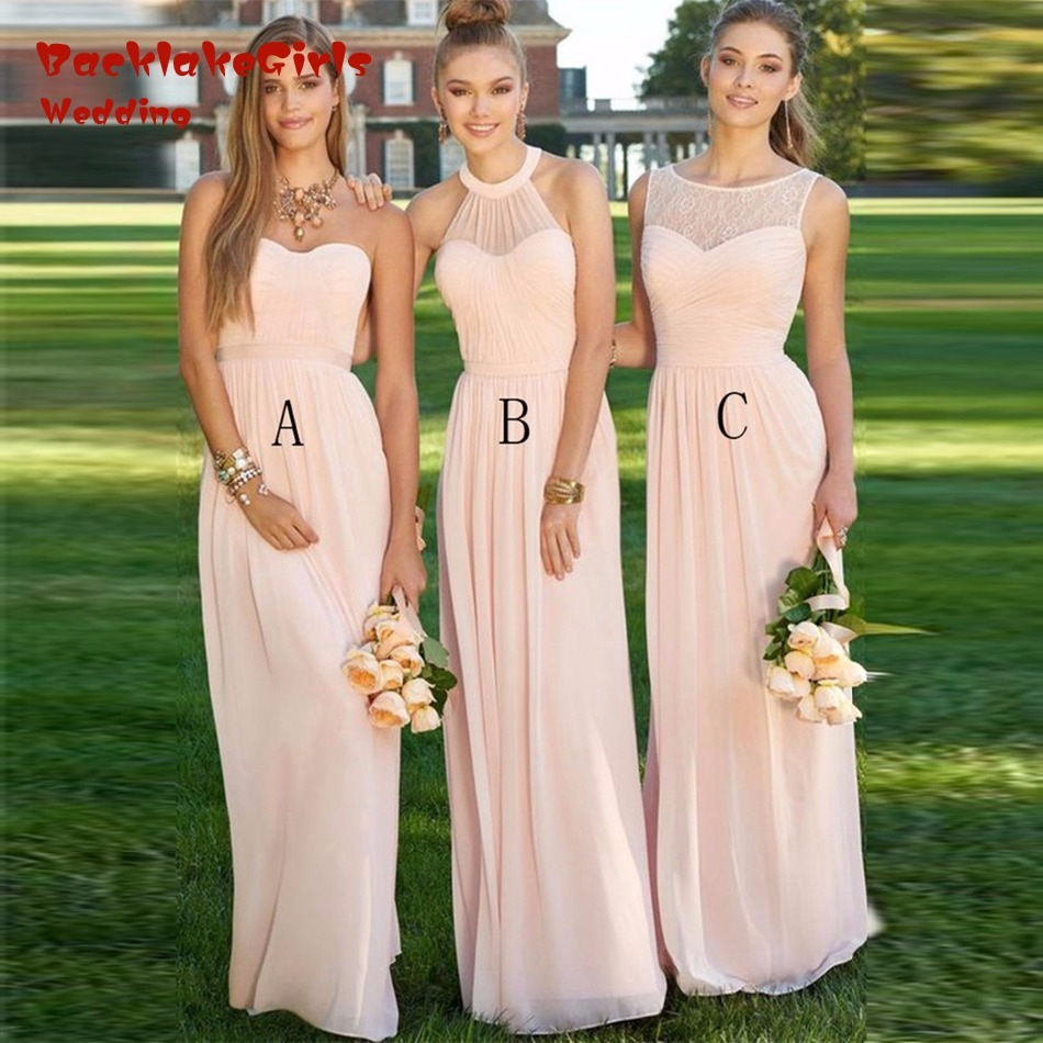 Maxi dresses light pink multi style bridesmaid dresses affordable maxi dresses light pink multi style bridesmaid dresses affordable chiffon maid of the honor dresses elegant dress for wedding in bridesmaid dresses from ombrellifo Images