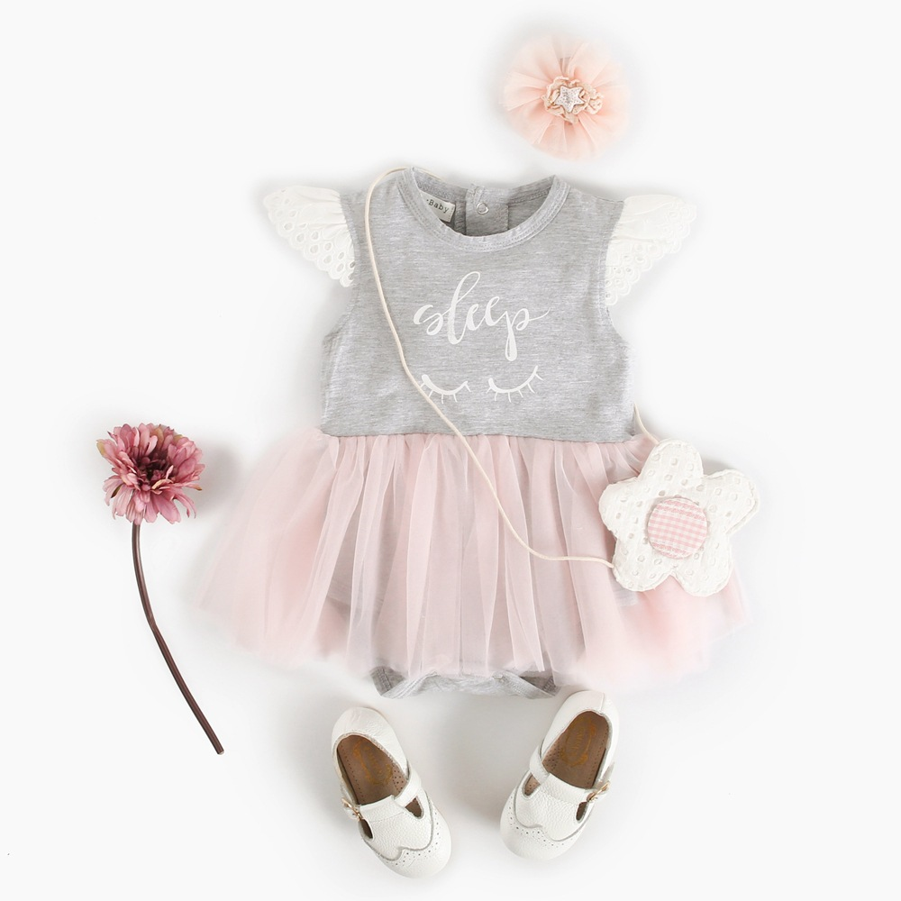 Baby Girl Romper Jumpsuit Infant Baby Girls Lace Ruffle Romper Dress Kids Clothes Summer 2018 Baby Princess Dress Girls Costumes puseky 2017 infant romper baby boys girls jumpsuit newborn bebe clothing hooded toddler baby clothes cute panda romper costumes