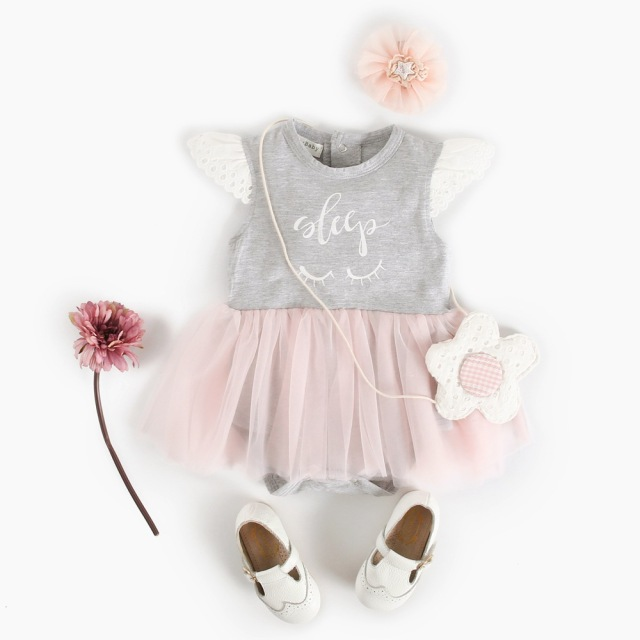 d79e63d96 Baby Girl Romper Jumpsuit Infant Baby Girls Lace Ruffle Romper Dress ...