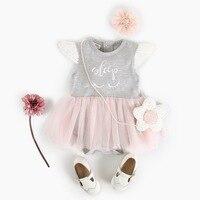 Bebek Kız Romper Tulum Bebek bebek Kız Dantel Fırfır Romper Elbise Çocuk Giysileri Yaz 2018 Bebek Prenses Elbise Kız Kostümleri
