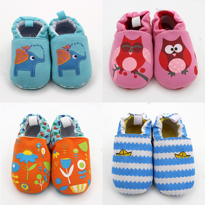 Cartoon Baby Shoes Cute Newborn Boys Girls First Walkers Flats Soft Sole Non-slip Shoes Footwear Toddler Booties | Happy Baby Mama