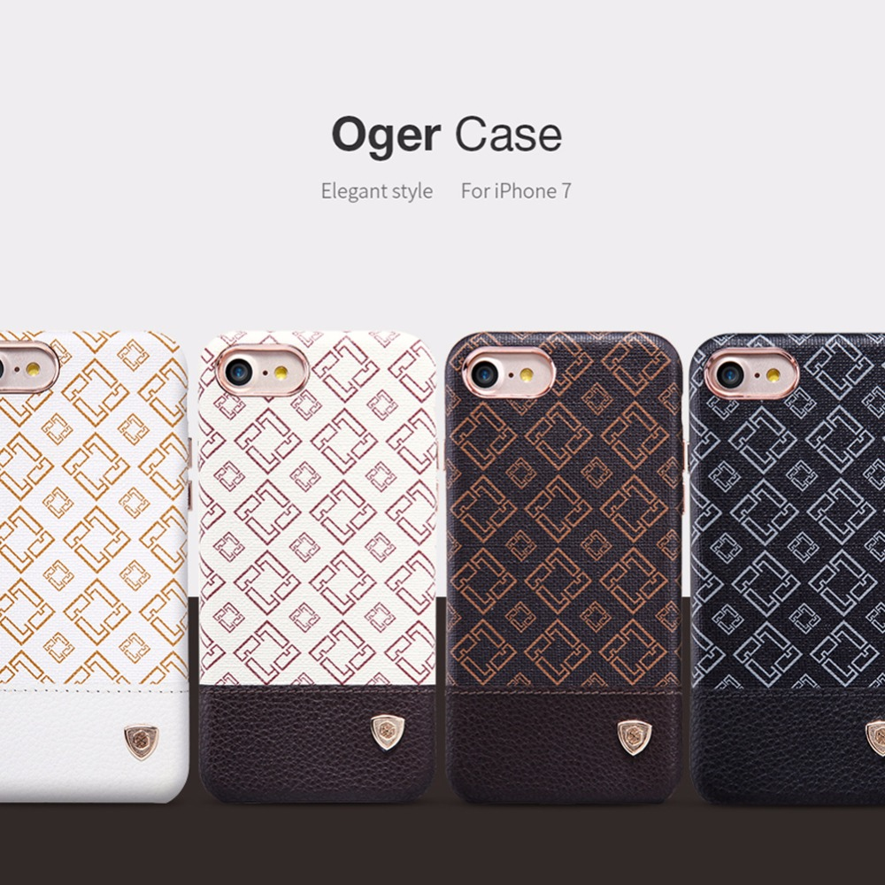 Nillkin Vintage PU Leather hard back Cover Case for iphone 7 cover 4.7 inch fit magnetic car holder Luxury Phone Cases