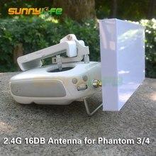 2.4 Г 16DB Высоким Коэффициентом Усиления Направленная Антенна Установка Range Extender для DJI Phantom 4/3 Расширенный/Профессиональный