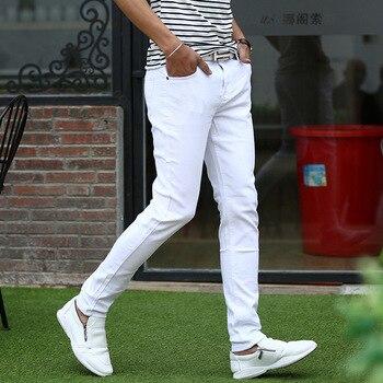 27230233426be Product Offer. Мужские узкие белые джинсы мужские весенне-летние  повседневные джинсовые брюки ...