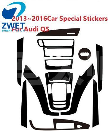 ZWET Car Special Stickers For Audi Q5 carbon fiber sticker For Q5 ...