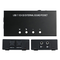USB Sound Card 7.1 Channel External Box Adapter For Stereo Microphone Computer XXM8