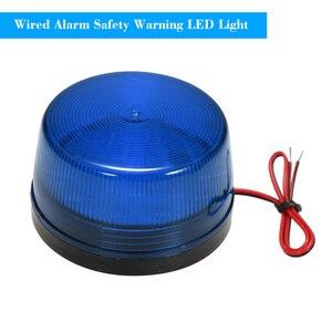 Alarma con cable de 12V y 120mA, luz estroboscópica de seguridad, aviso luz LED intermitente, resistente al agua, seguridad para sistema de alarma