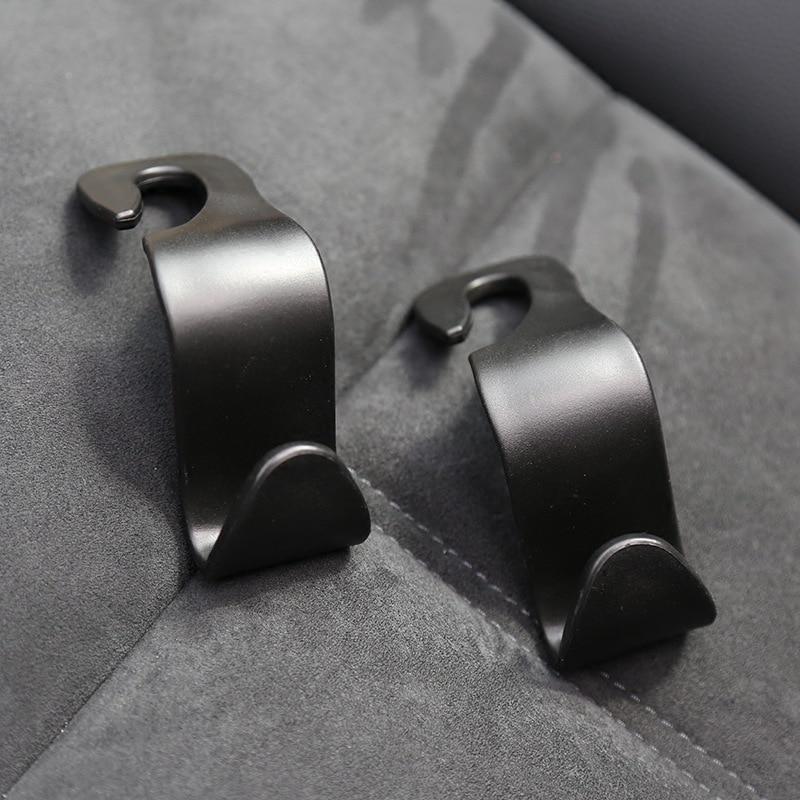 1 Pair Auto Clip Car Back Seat Headrest Hanger Holder Hooks Auto Fastener Clip Interior Accessories