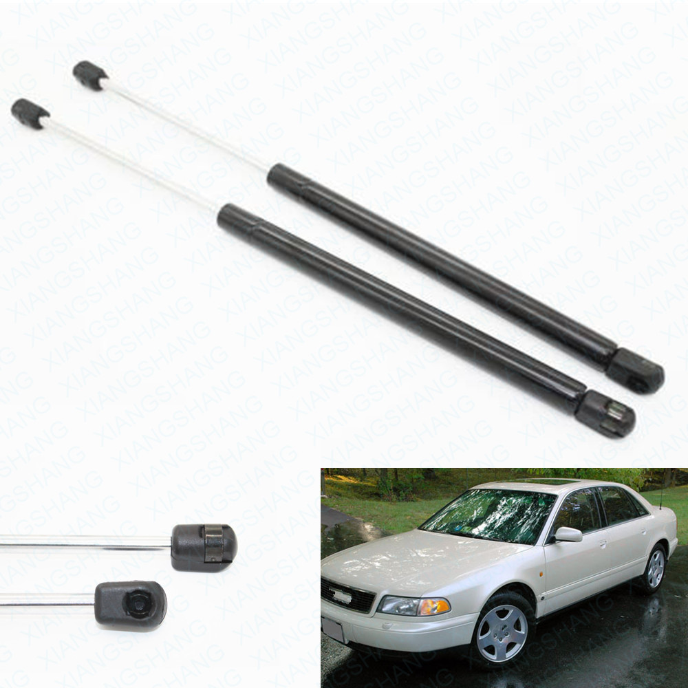 2pcs Auto <font><b>Hood</b></font> Bonnet Gas Struts Lift Supports Shock Struts for <font><b>Audi</b></font> <font><b>A8</b></font> <font><b>A8</b></font> Quattro Saloon 1997-1999 2000 2001 2002 2003 530 mm image