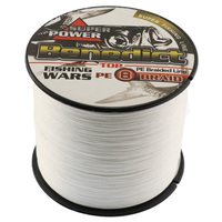 Hot Sale Fishermen S Favorite Strong 8 Strands Pe Braided Fishing Line 500M Dyneema Line White
