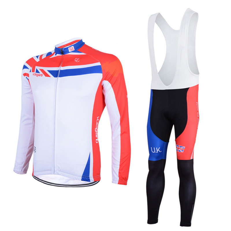 Cycling Sets Mens Bicycle Jersey Sets Long Sleeves Clothes Sweat Absorbing Long Sleeved Suspender Bicycle Suit Riding Clothes
