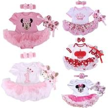 Bébé de noël Infantile 3 pcs Vêtements Ensembles Costume Princess Tutu Barboteuse Dress/Salopette De Noël Bebe Partie D'anniversaire Costumes Robe