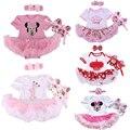 La navidad del bebé infantiles 3 unids ropa fija el juego princess tutu mameluco dress/bebe mono de navidad fiesta de cumpleaños de disfraces vestido