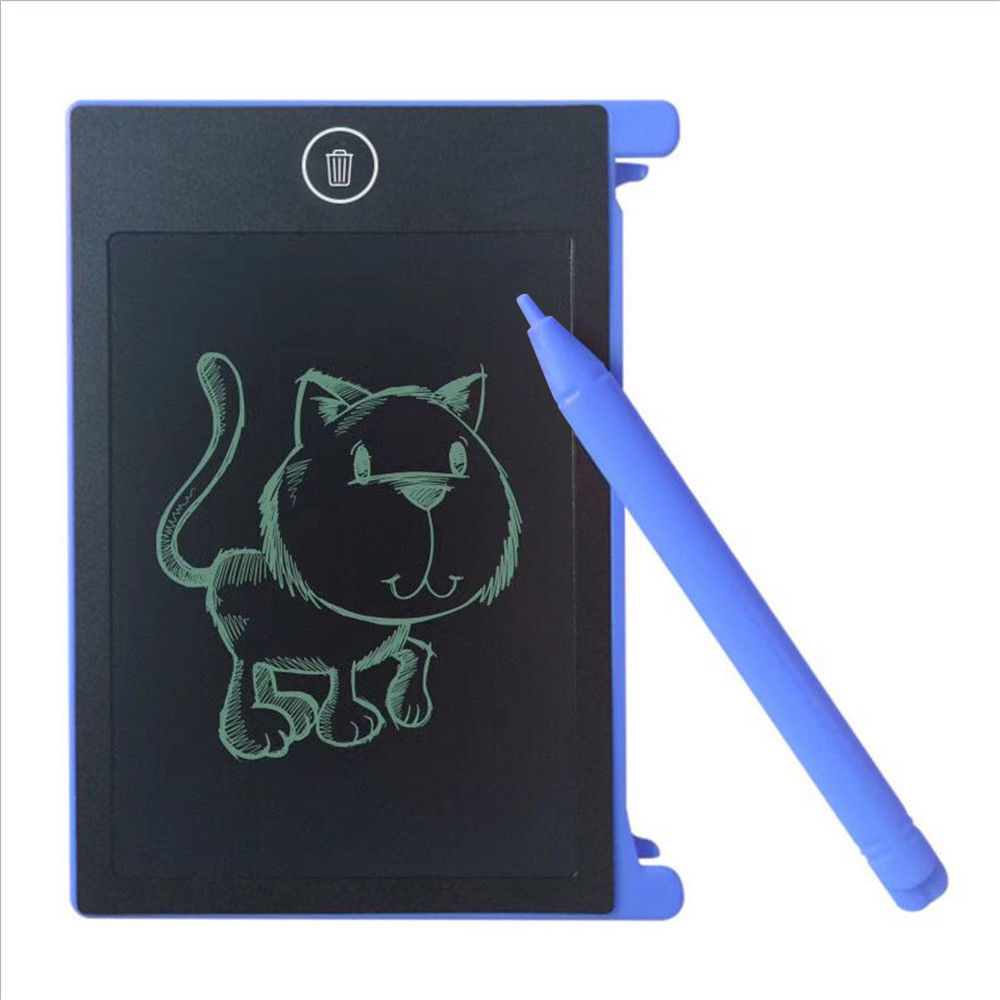 LCD Writing Tablet Paperless Memo Pad Writing Drawing Graphics Board 4.4 inch