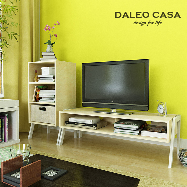 Furniture Small Apartment Simple Wooden Tv Cabinet Storage Modern Minimalist Ikea Bookcase Combination