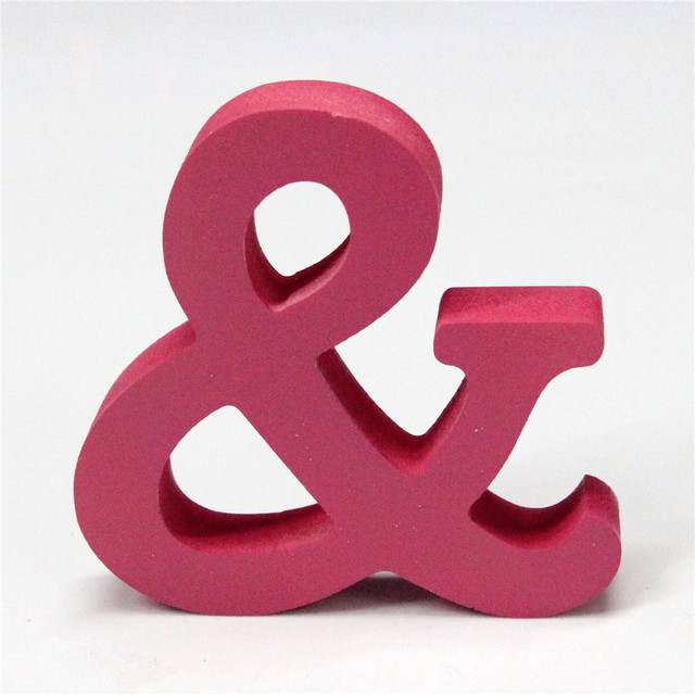 Creative Home Decor 8cm Wood Craft Wooden Letters Alphabet For Hotel Bar Shops Birthday Party Home Wedding Decorations gifts 4