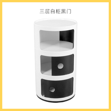Louis Mode Nacht Nordic Drei Schicht Multifunktionale Weiß Minimalistischen  Kreative Locker Schrank(China)