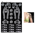 1 Piece Large Indian Henna Tattoo Stencil Flower Pattern Lady Body Art Henna Paste Drawing Airbrush Painting Tattoo Stencil S313