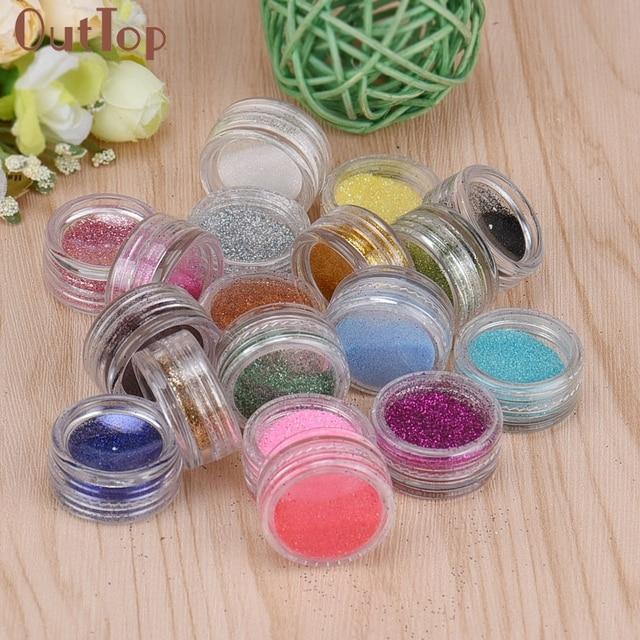 Nail Powder 18 Colors Carving Acrylic Powder Nail Art Crystal Nail