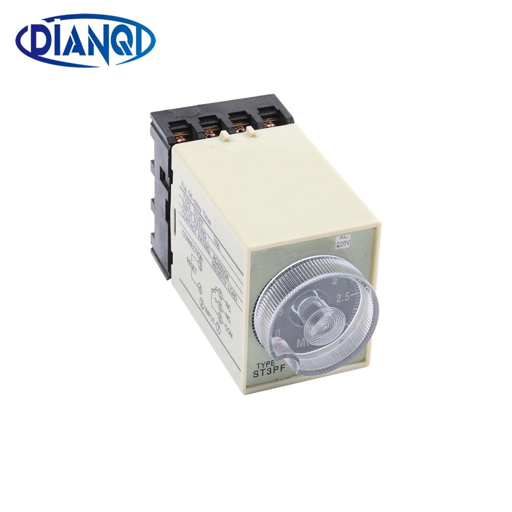 Konstruktiv Power Off Delay Timer Zeitrelais 0-3 Minute 3 M St3pf Mit Sockel Basis Ac 220 V Erfrischung Timer