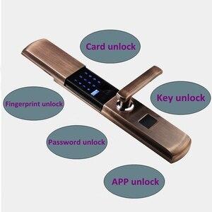Image 5 - 디지털 Semicondu 지문 스마트 잠금 생체 인식 지문 전자 도어 잠금 자동 비밀 번호 카드 잠금 해제