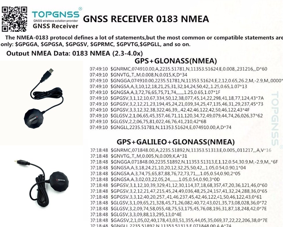 gn-80g receiver NMEA