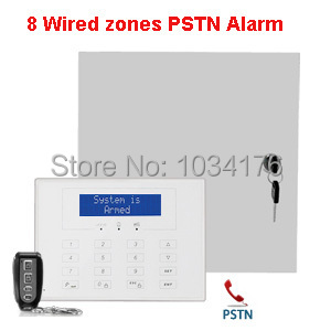8 wired&15 wireless zones hard wire land-line alarm system wired telephone  line alarm system