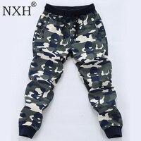 NXH Camouflage Joggers Long Cotton Plus Size 6XL 7XL 8XL Sweatpants Men Streetwear Elastic Waist Skinny Sport Pants Gym Trousers