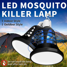E27 LED Mosquito killer Lamp Led Bug Zapper Insect Trap Light Bulb 220V Anti Lampara USB Outdoor Garden Lighting 8W