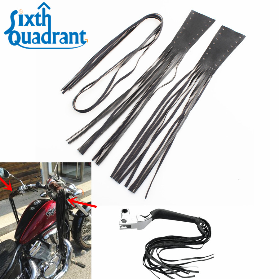 Black PU Leather Motorcycle Brake Lever Covers Biker Clutch 12 ...