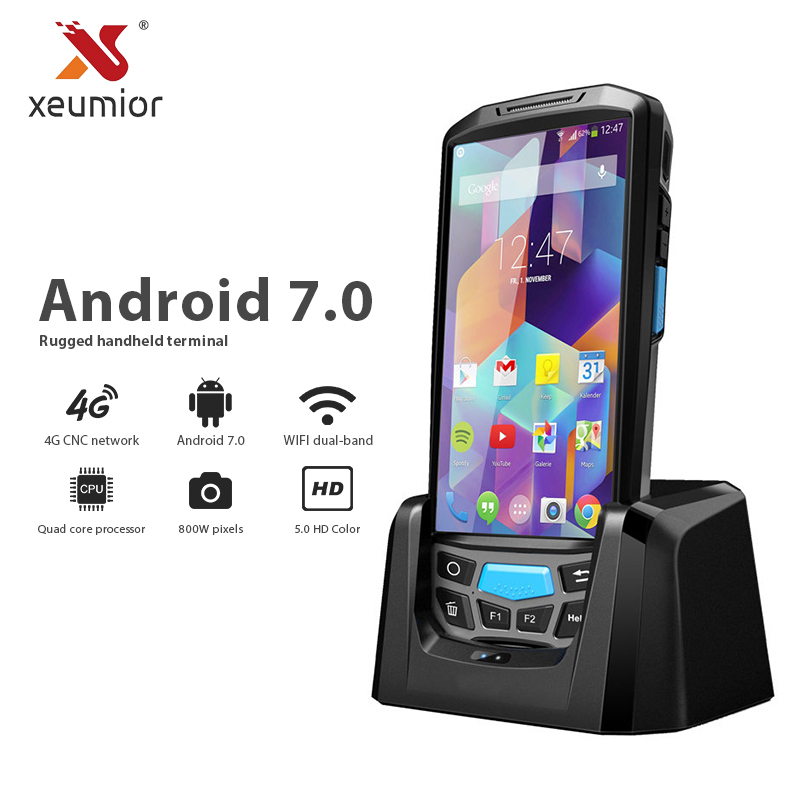 Xeumior 5 2D Bar Code Scanner Reader Thermal Printer GPS NFC UHF RFID POS Terminal Barcode Scanner Android Pda Data Collection