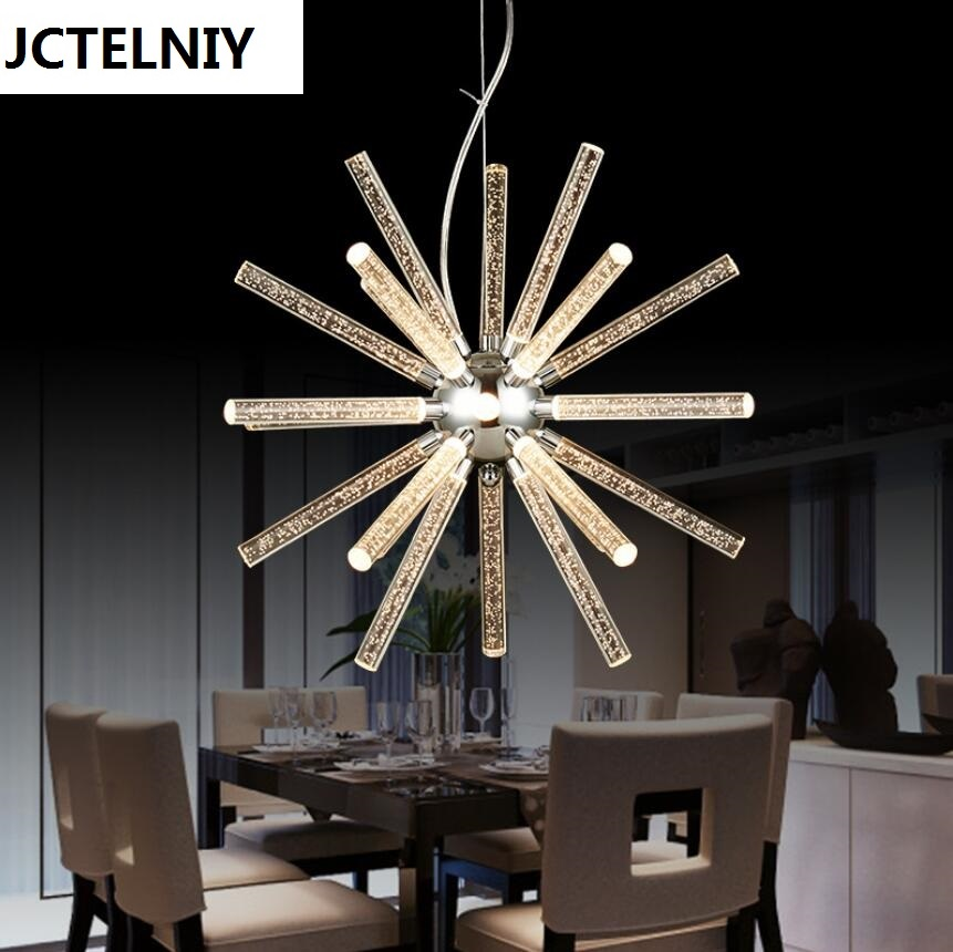 2017 novelty led acrylic  wrought iron chandelier Contracted style restaurant droplight led lamps