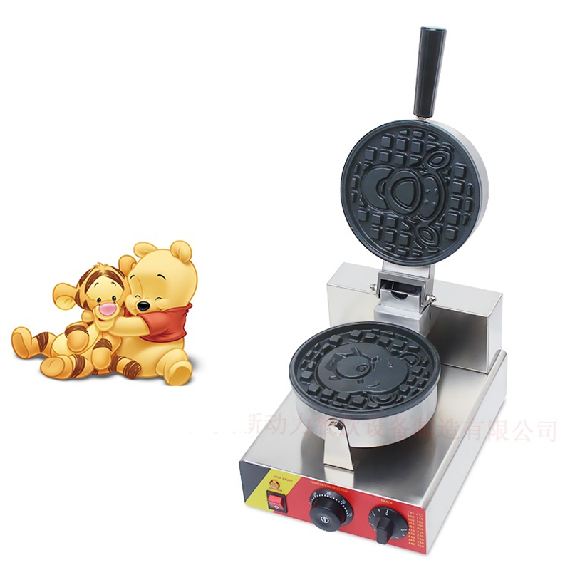 110V 220V Commercial Electric Cartoon Waffle Machine Non-stick Bear Shape Waffle Maker Machine EU/AU/UK/US Plug 110v 220v commercial electric round waffle cake machine non stick 16pcs muffin cake maker eu au uk us plug high quality