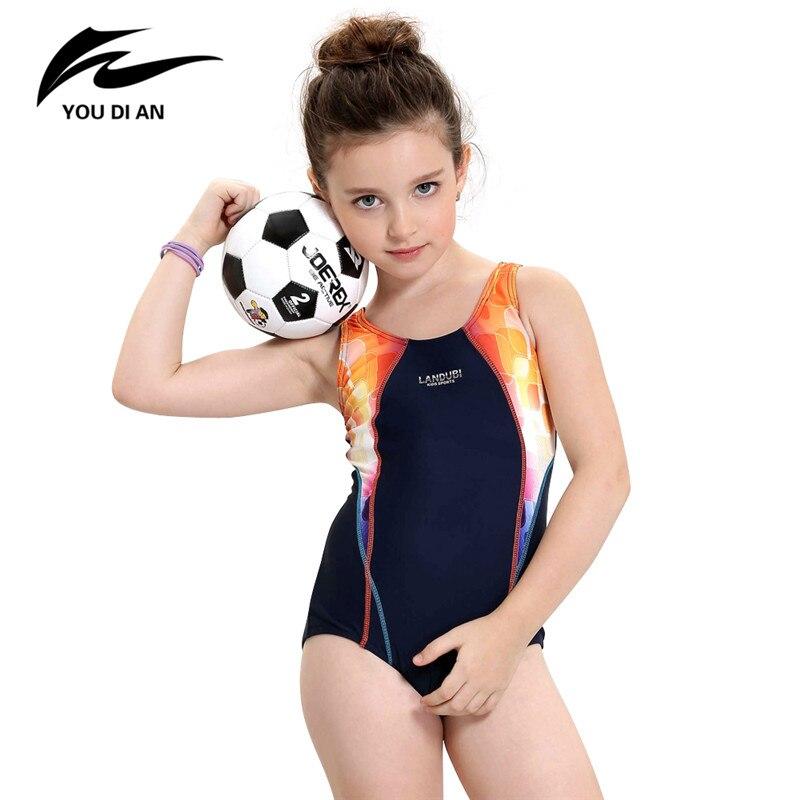 2017 Girls Sports Swimsuit One-piece Swimwear for Kids Children Swimwear Quick Dry Bathing Suit Children Swimming Clothes