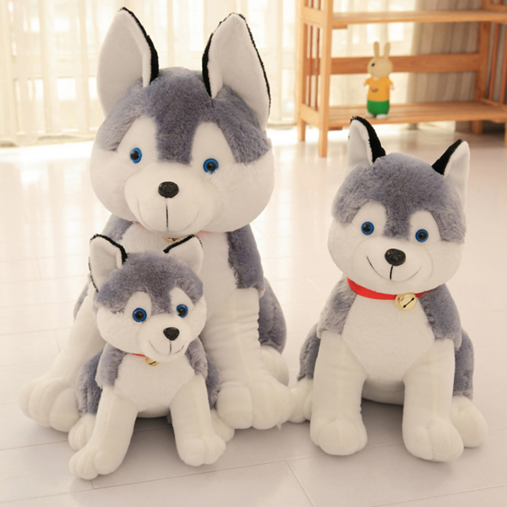 Fancytrader 28''  Lifelike Big Stuffed Plush Emulational Simulation Husky Dog Toy 70cm, Great Gift for Kids FT90992 холодильник lg ga b429smqz серебристый серый черный
