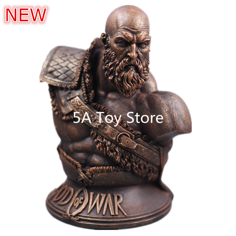 NECA Game God of War 4 Kratos 1/3 Resin Bust Collecting Statues Home Decoration 27CM high quality god of war 3 kratos on zeus head resin figure statue fans collection 26cm h