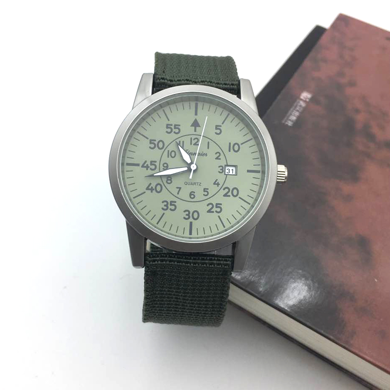 Retro Style Men Watch Luxury Casual Men's Quartz Watches Man Nylon Date Luminous Hands Military Male Clock Sport Zegarki Meskie